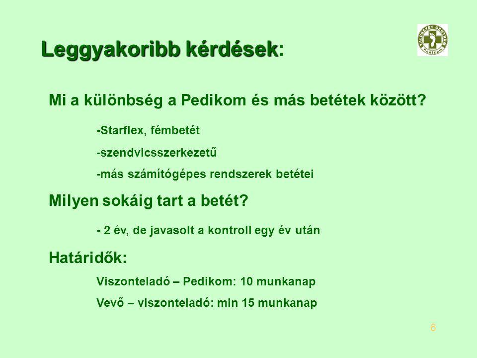 Leggyakoribb kérdések Leggyakoribb kérdések: Mi a különbség a Pedikom és más betétek között? -Starflex, fémbetét -szendvicsszerkezetű -más számítógépe