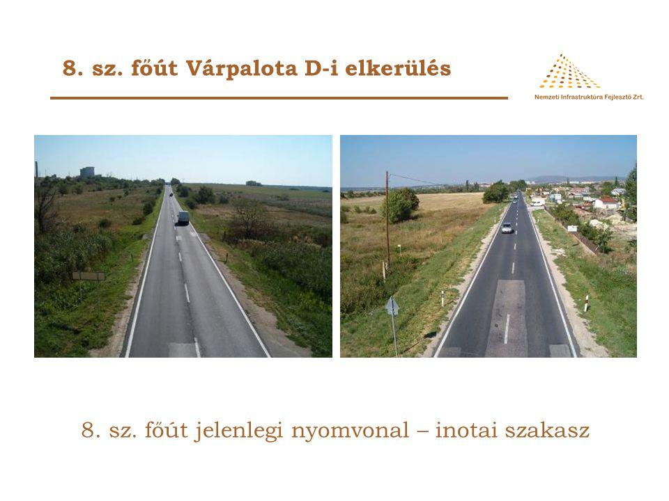 Adatok: • szakasz hossza: 8,2 km • tervezés: MK.Kht által átadott eng.