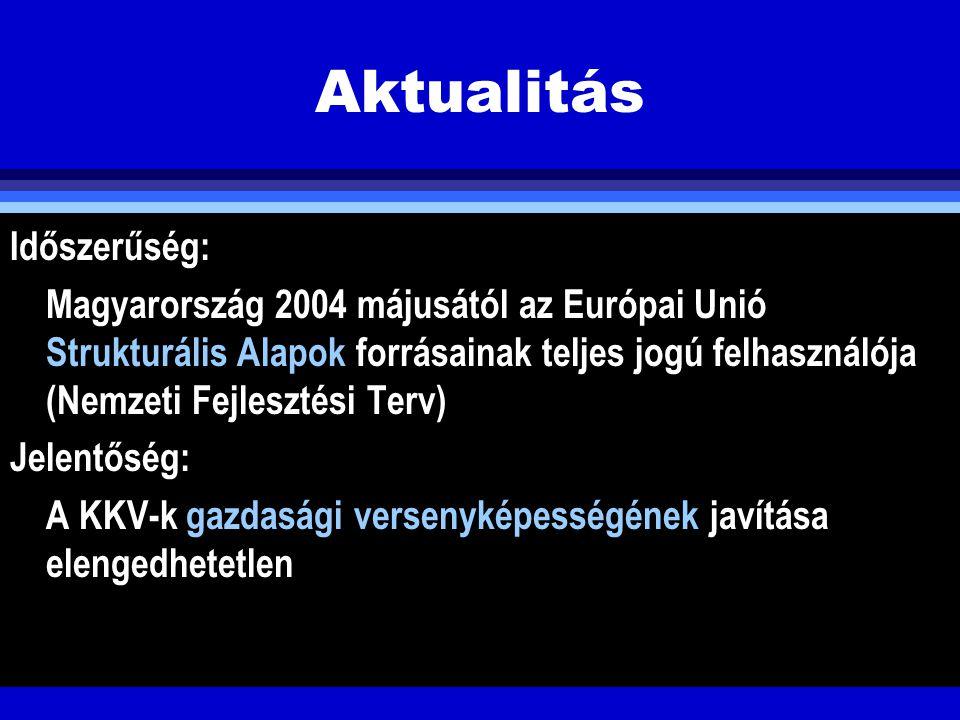 SMART Hungary 2004 évi pályázati felhíása Környezetvédelmi szempontú technológiaváltás (SMART - 2004 -5) Cél: környezetbarát, hulladékszegény, energiatakarékos termelési technológiák elterjesztése Keretösszeg: 3,7 Mrd Ft.