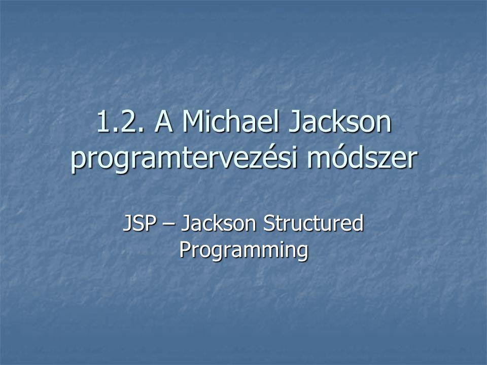 1.2. A Michael Jackson programtervezési módszer JSP – Jackson Structured Programming