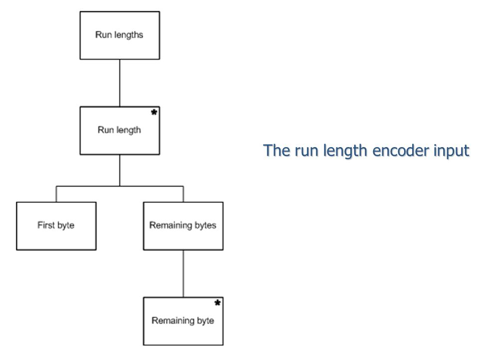 The run length encoder input