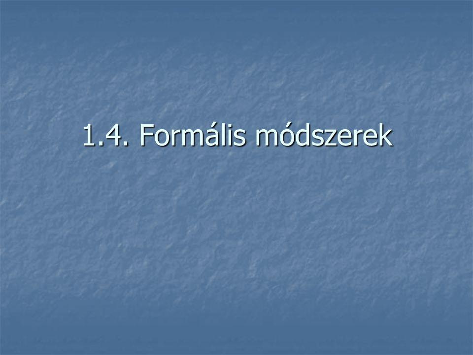 1.4. Formális módszerek