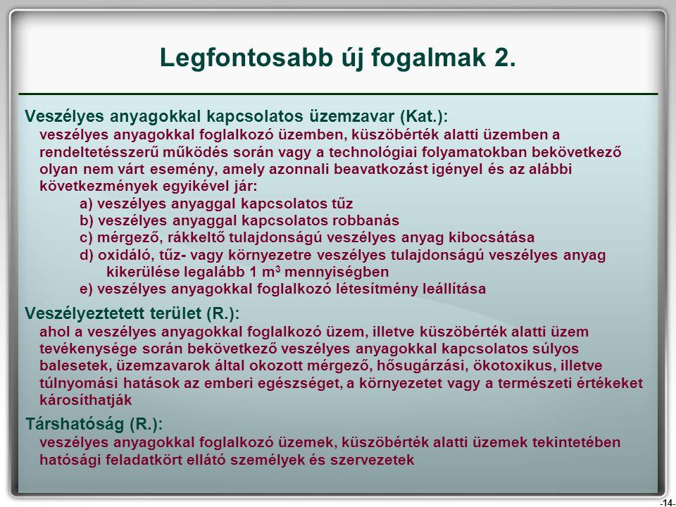 -14- Veszélyes anyagokkal kapcsolatos üzemzavar (Kat.): veszélyes anyagokkal foglalkozó üzemben, küszöbérték alatti üzemben a rendeltetésszerű működés