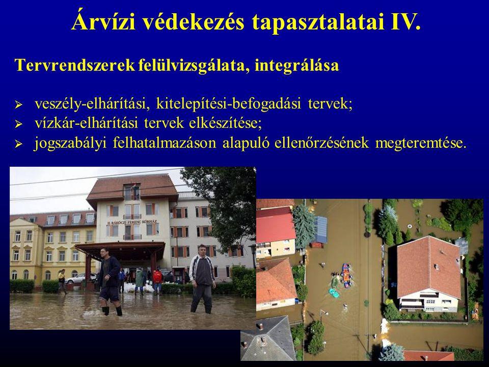 Tervrendszerek felülvizsgálata, integrálása  veszély-elhárítási, kitelepítési-befogadási tervek;  vízkár-elhárítási tervek elkészítése;  jogszabály