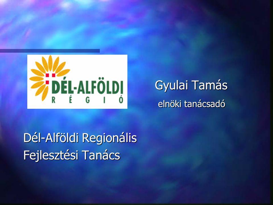 Gyulai Tamás elnöki tanácsadó elnöki tanácsadó Dél-Alföldi Regionális Fejlesztési Tanács
