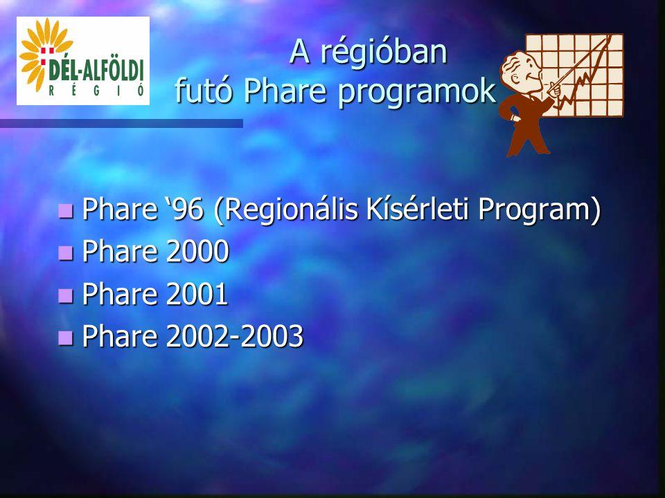 A pályázatok megvalósításában résztvevő szereplők VÁTI TFI, Regionális Képviseletei ESZA KHT Regionális Fejlesztési Ügynökségek Kedvezményezettek EU Delegáció