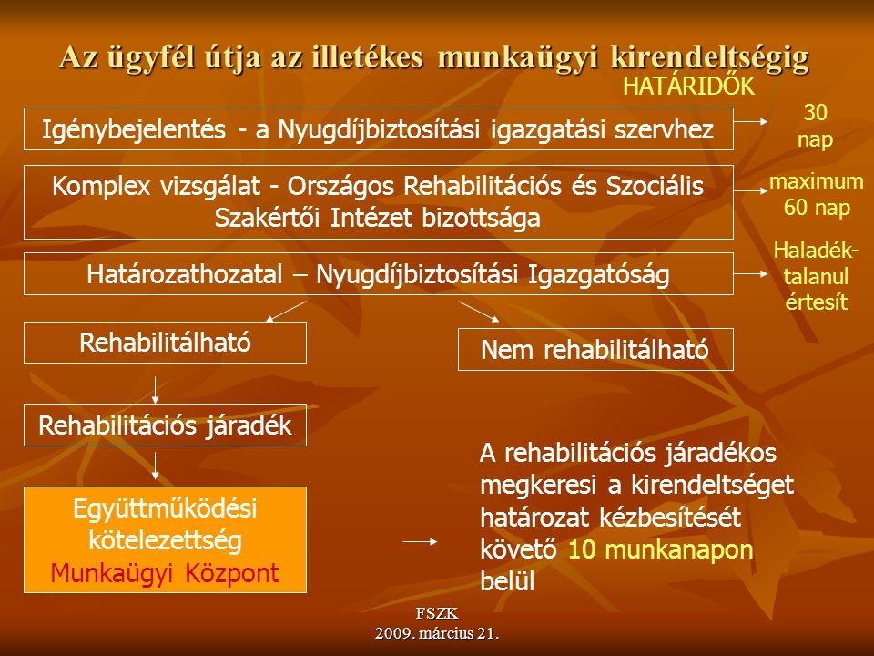 FSZK 2009.március 21. A rehabilitáció konkrét iránya I.