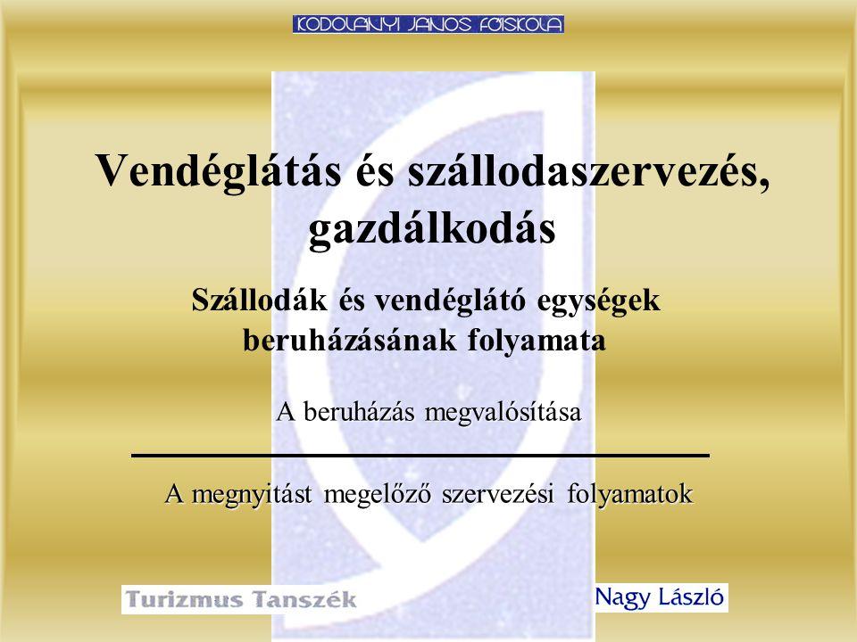2. előadásVendéglátás és szállodaszervezés, gazdálkodás 22 A Nagy Bálterem látványterve