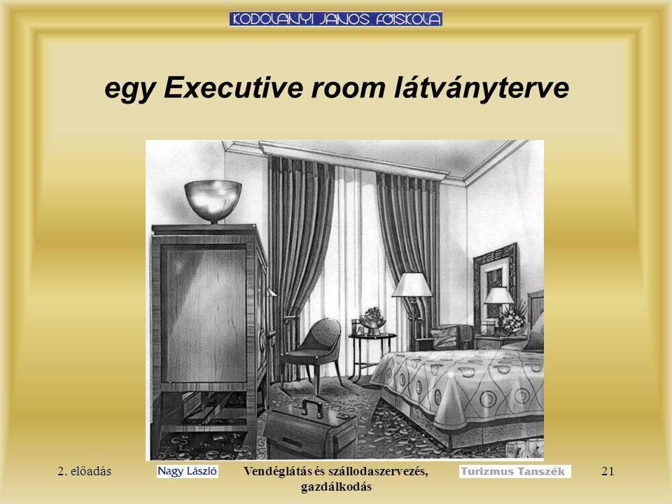 2. előadásVendéglátás és szállodaszervezés, gazdálkodás 21 egy Executive room látványterve