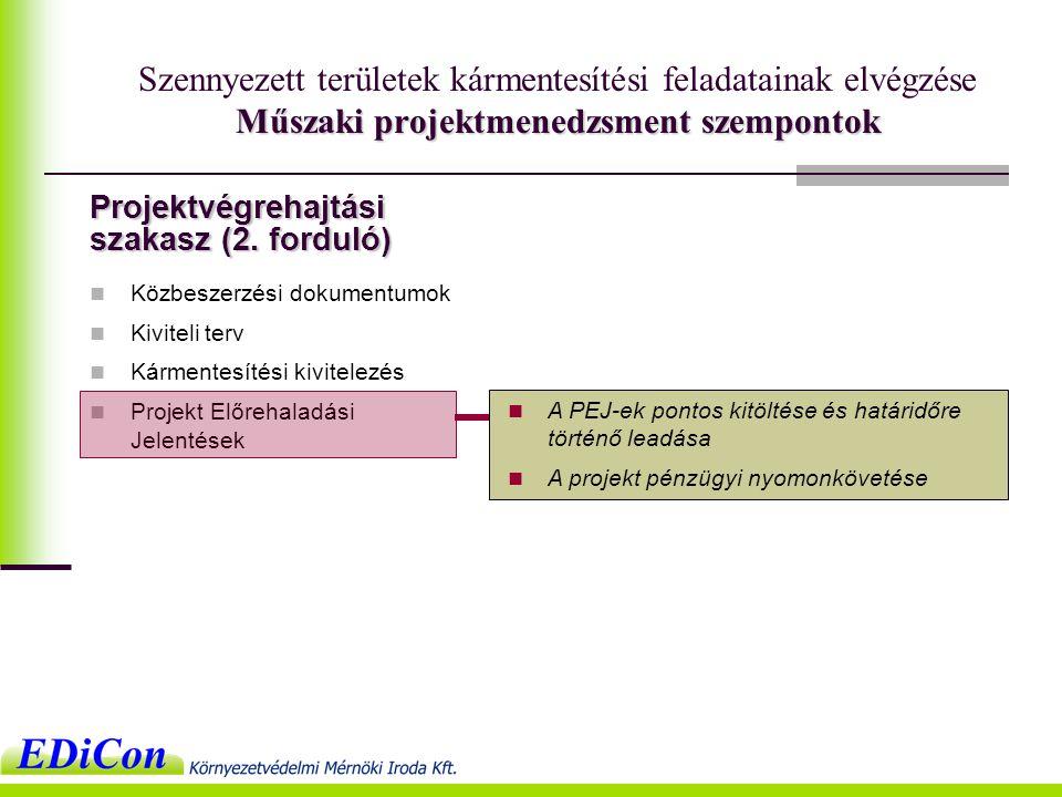 Projektvégrehajtási szakasz (2.