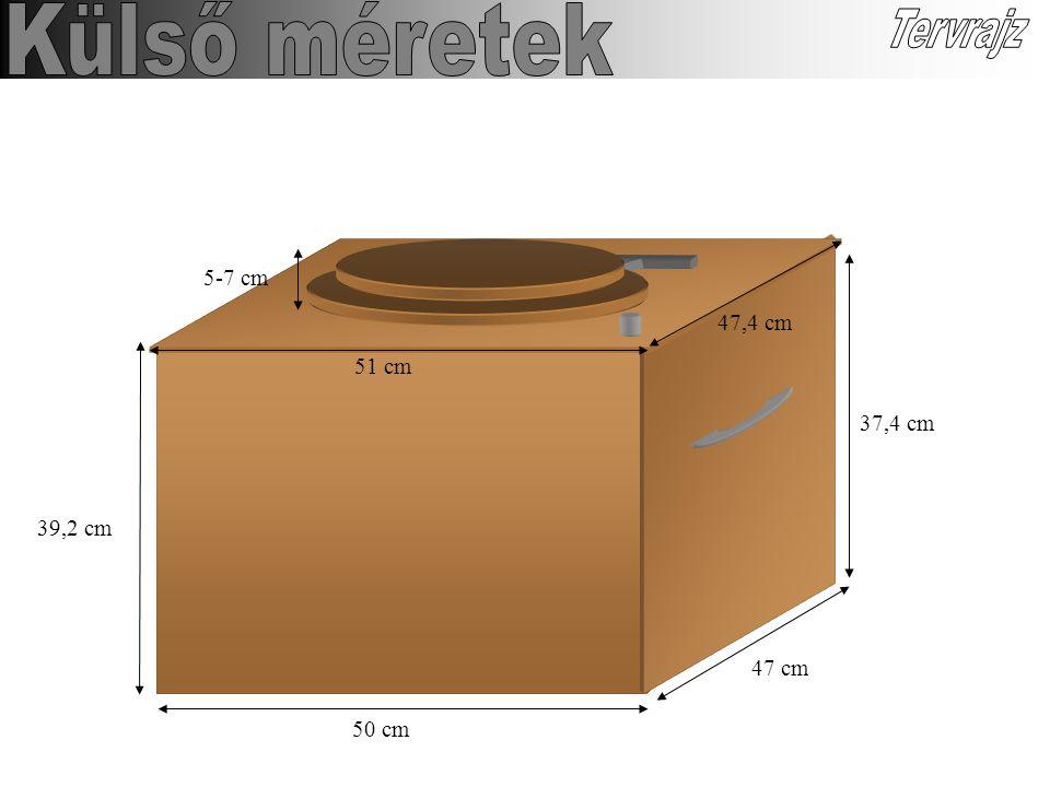 50 cm 47 cm 37,4 cm 39,2 cm 5-7 cm 51 cm 47,4 cm