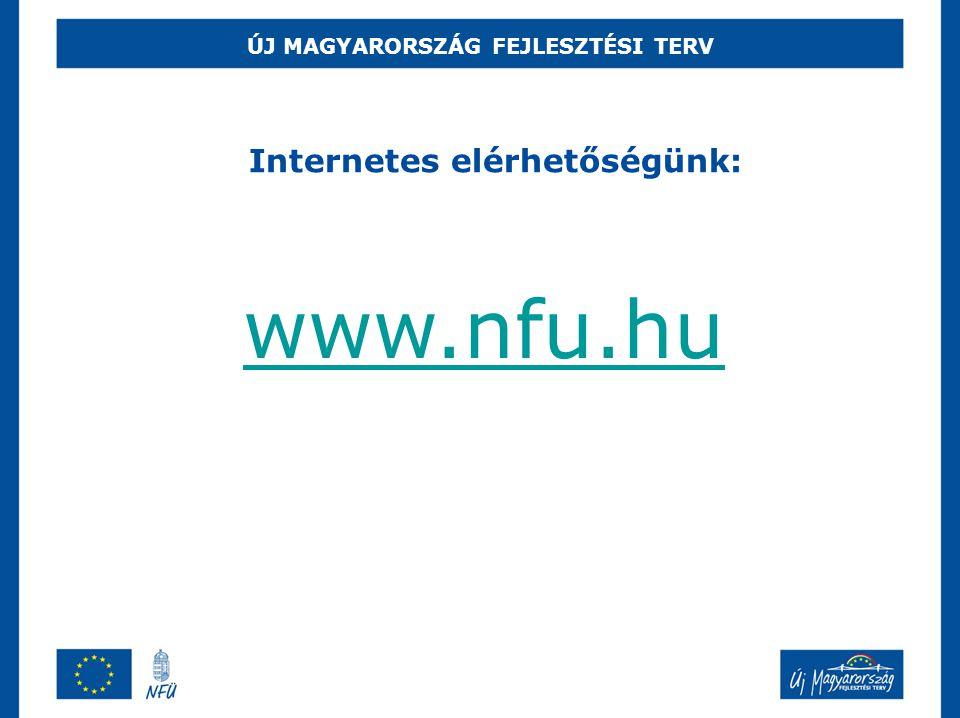ÚJ MAGYARORSZÁG FEJLESZTÉSI TERV www.nfu.hu Internetes elérhetőségünk: