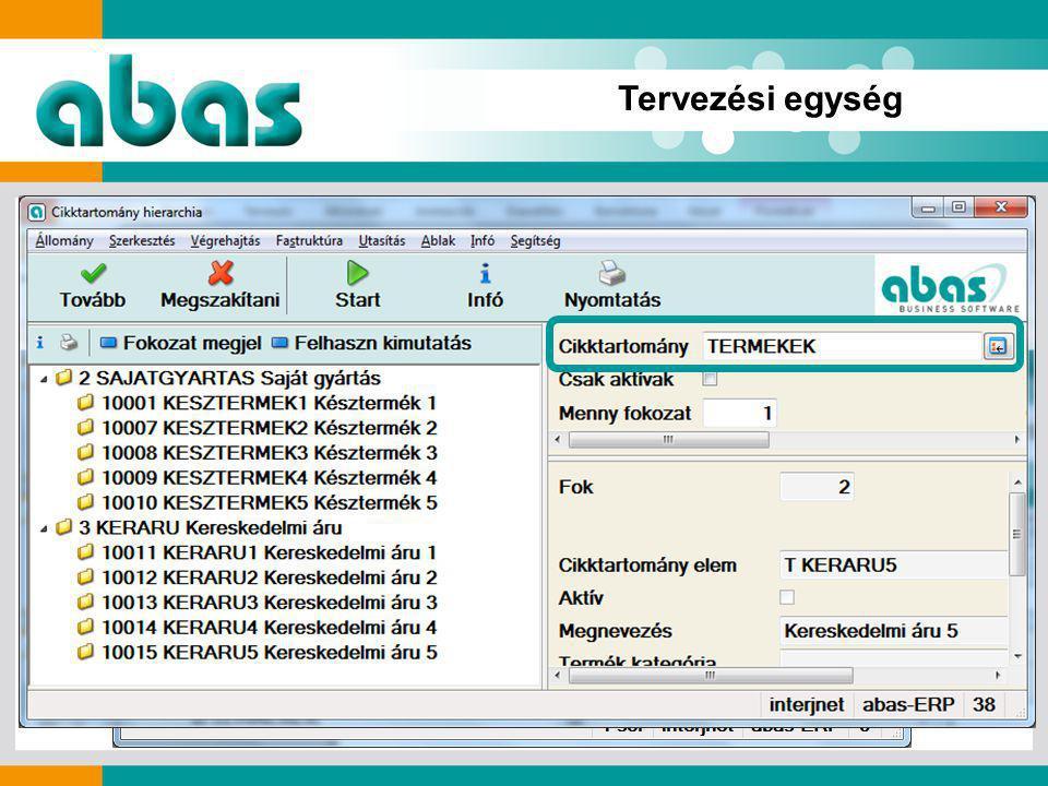 Gördülő tervezés infosystem