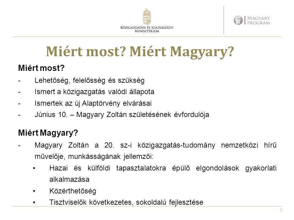 3 A magyar közigazgatás helyzete A közigazgatás válságának főbb elemei: -Túlburjánzó állami szervezetrendszer -Állami feladatok tisztázatlansága -Nem -Minőségi jogalkotás, megfelelő visszacsatolás hiánya -Közigazgatási szolgáltatások, ügyfélkiszolgálás alacsony szintje -E-közigazgatás fejletlensége, magas adminisztratív terhek -Hatékony személyzeti igazgatás és életpálya hiánya -Tisztviselők alacsony elkötelezettsége