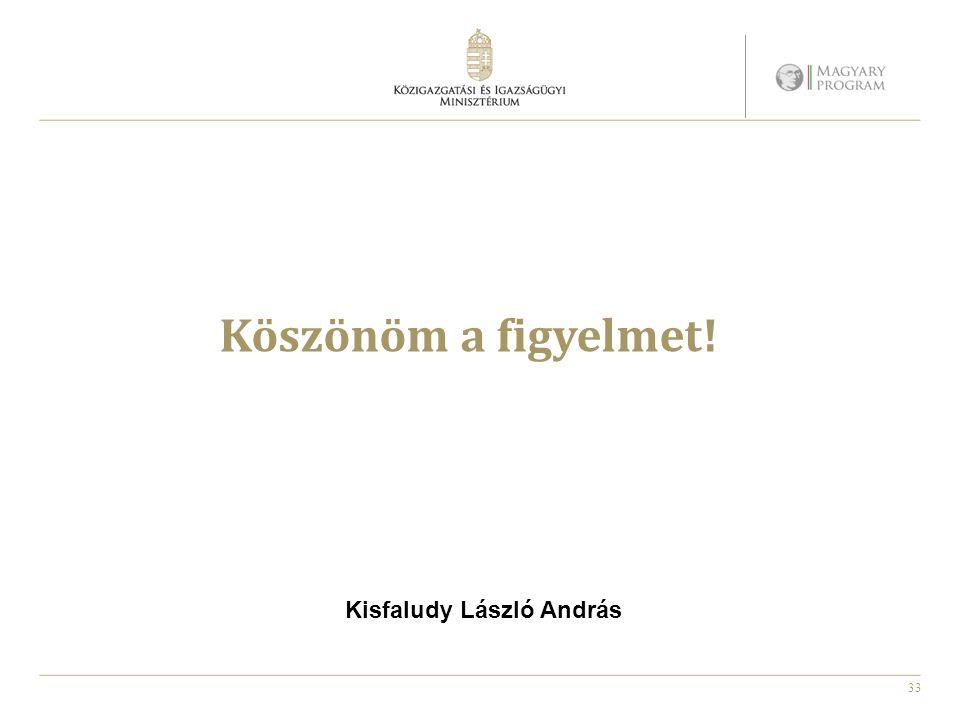 33 Köszönöm a figyelmet! Kisfaludy László András