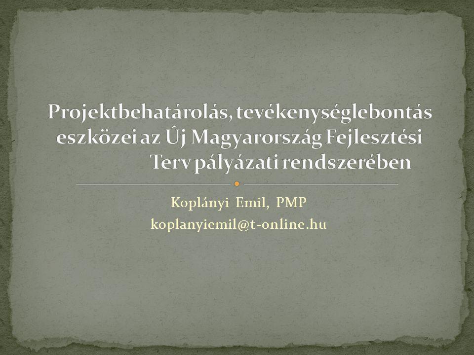 Koplányi Emil, PMP koplanyiemil@t-online.hu