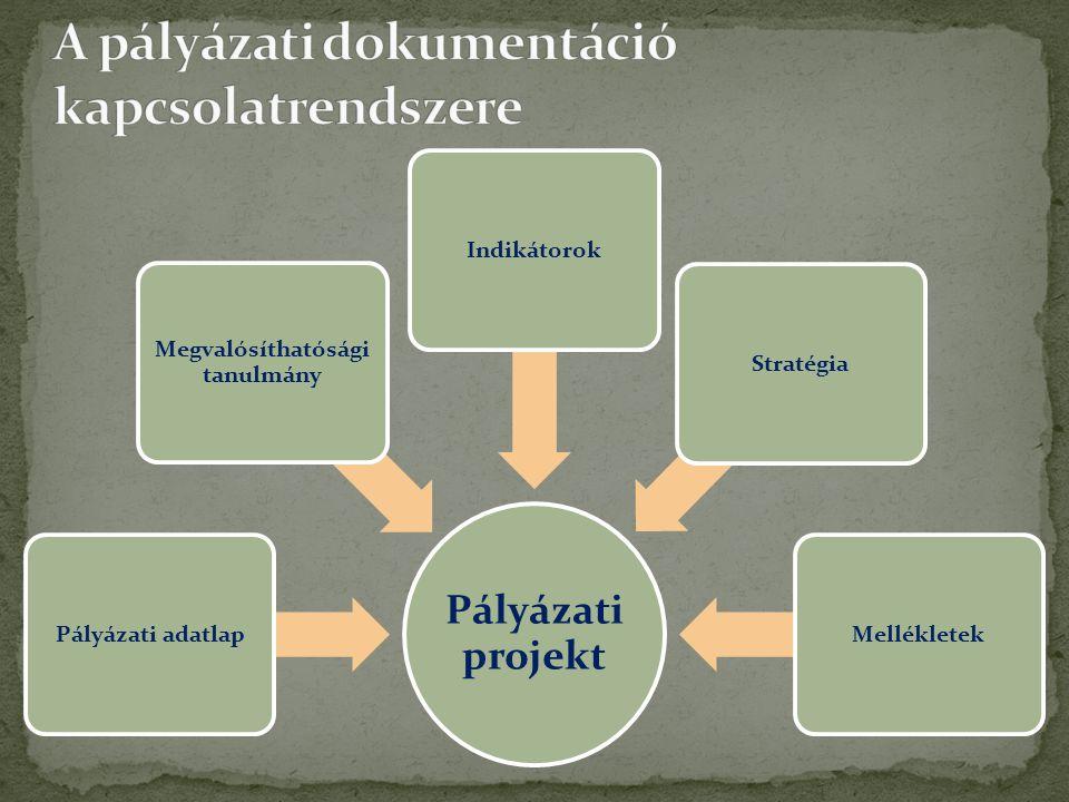 Pályázó •A pályázati projekt tartalmának logikus, világos bemutatása •Kötelező tevékenységek és támogatható tevékenységek megjelenése a pályázatban Előértékelő, bíráló, döntéshozó •A pályázati kiírás szakmai feltételeinek, előírásainak ellenőrzése a pályázatban •Projektcél megfelel-e a pályázati célnak.