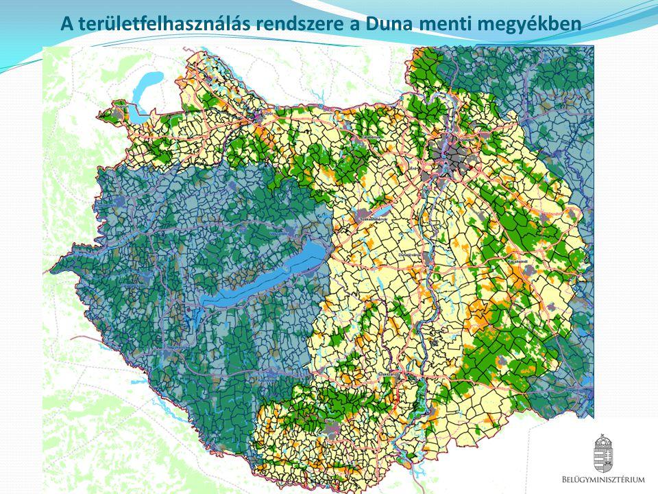 A területfelhasználás rendszere a Duna menti megyékben