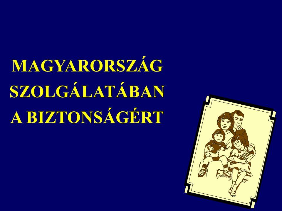 MAGYARORSZÁG SZOLGÁLATÁBAN A BIZTONSÁGÉRT