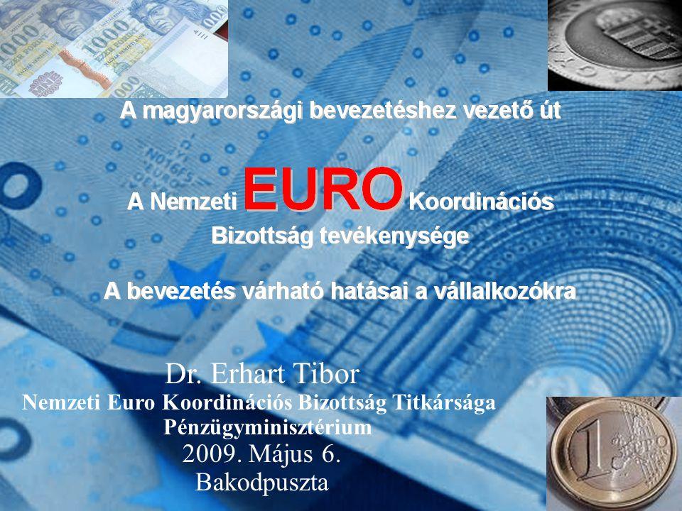 0 Dr.Erhart Tibor Nemzeti Euro Koordinációs Bizottság Titkársága Pénzügyminisztérium 2009.