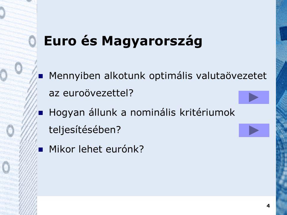 4 Euro és Magyarország  Mennyiben alkotunk optimális valutaövezetet az euroövezettel.