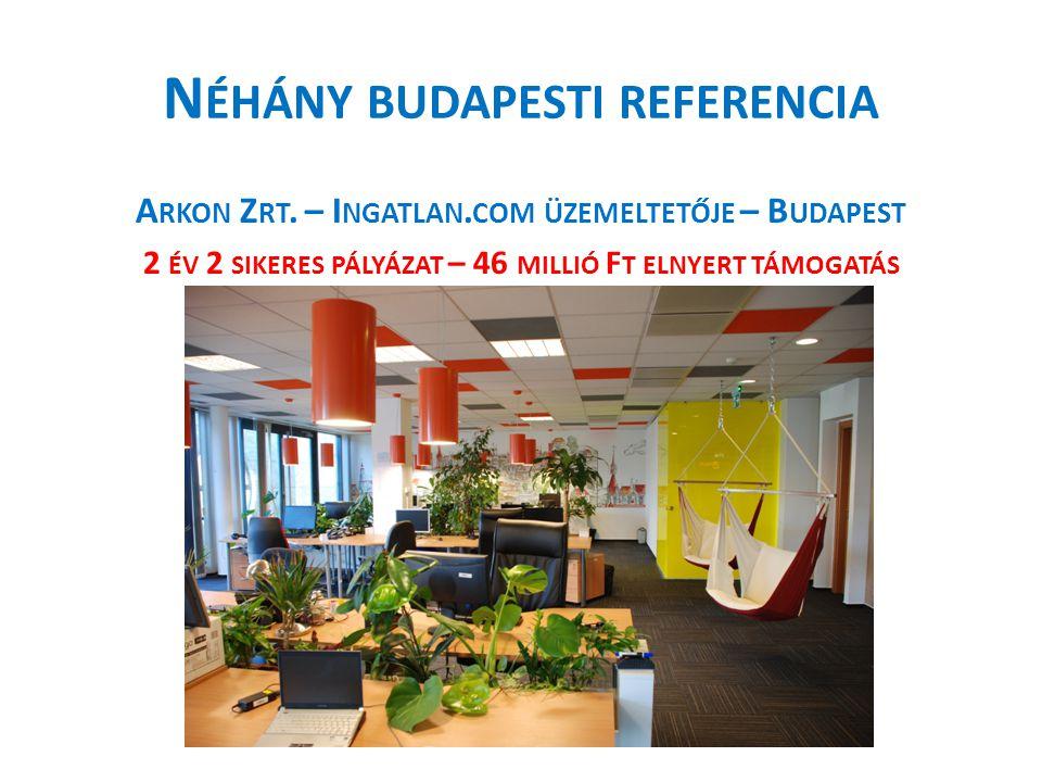 N ÉHÁNY BUDAPESTI REFERENCIA A RKON Z RT. – I NGATLAN.