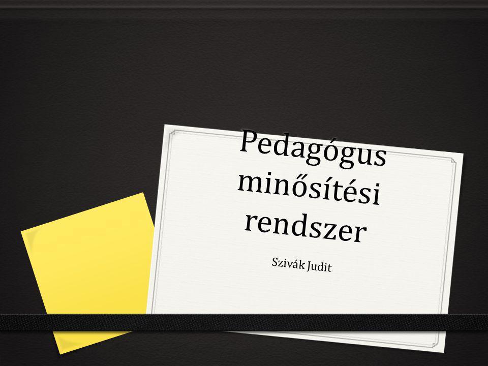 Pedagógus minősítési rendszer Szivák Judit
