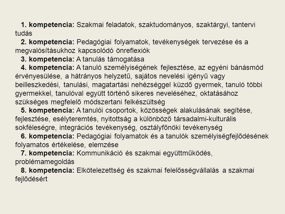 Melyek a minősítési eljárás tartalmi elemei (részei).
