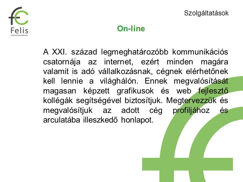 On-line A XXI.