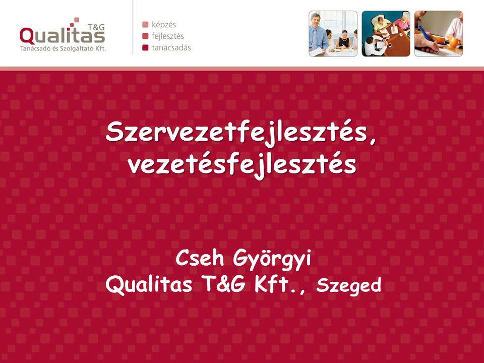 Szervezetfejlesztés, vezetésfejlesztés Cseh Györgyi Qualitas T&G Kft., Szeged
