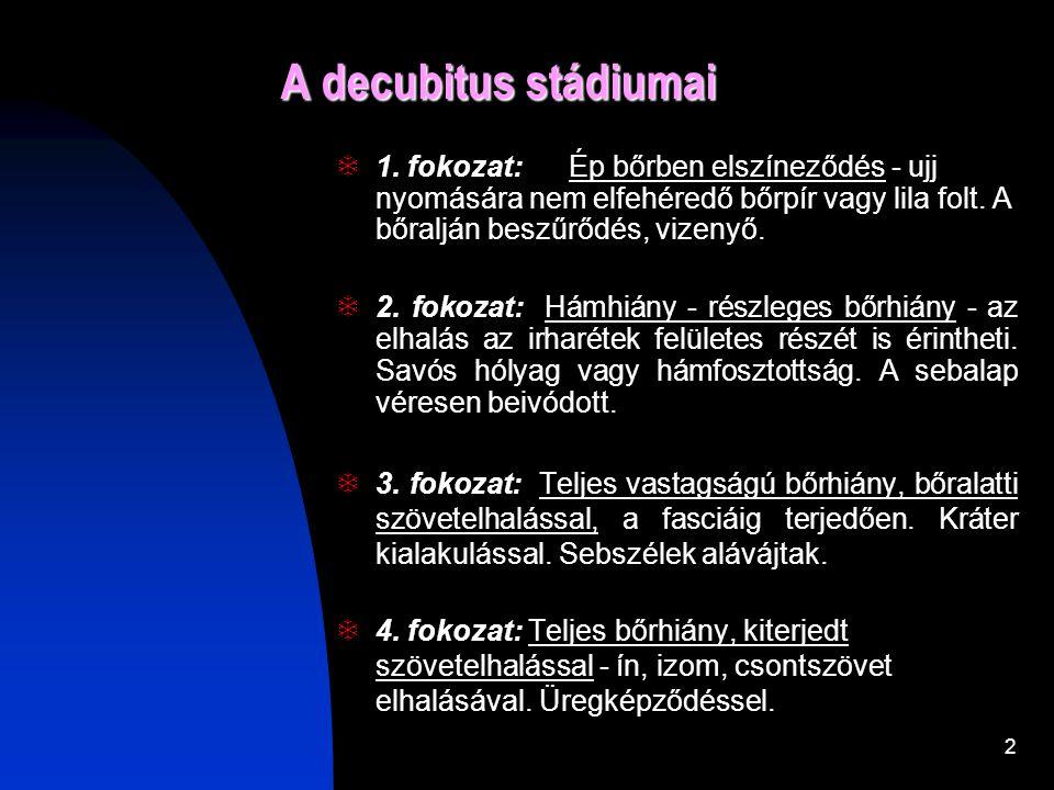 1 Decubitus kezelése és dokumentálása! Bozsóné Pető Hédi (decubitus mobil team koordinátor) Szent Donát Kórház Várpalota