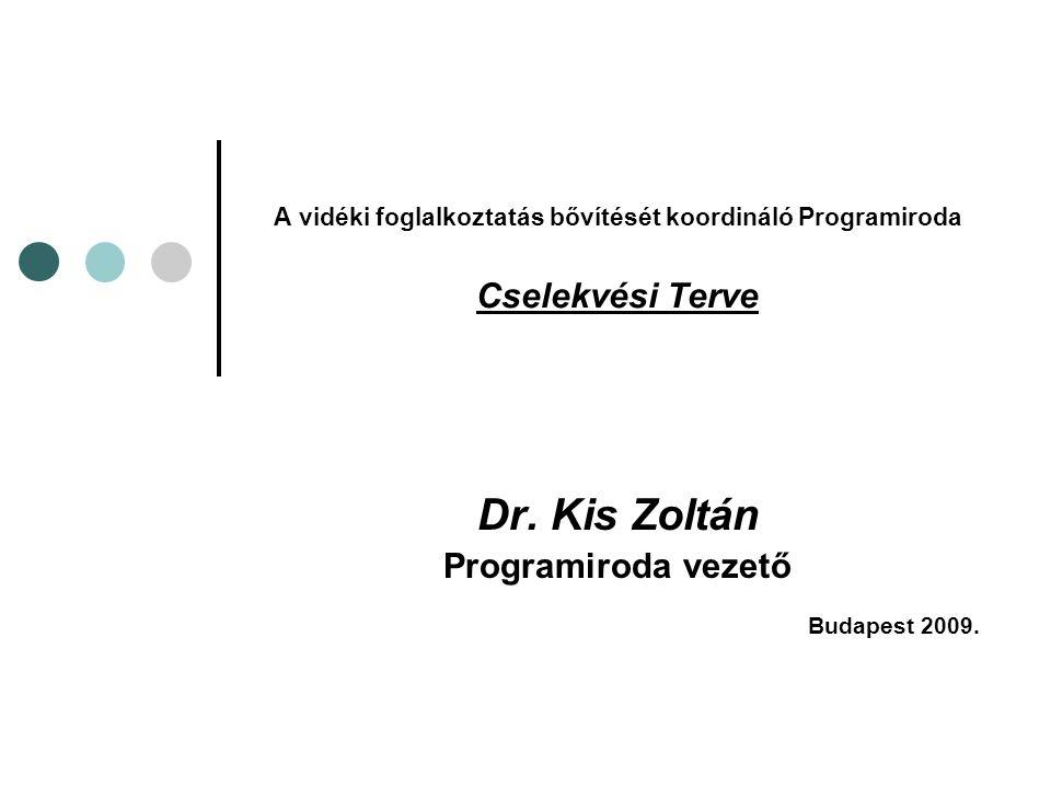 A vidéki foglalkoztatás bővítését koordináló Programiroda Cselekvési Terve Dr. Kis Zoltán Programiroda vezető Budapest 2009.