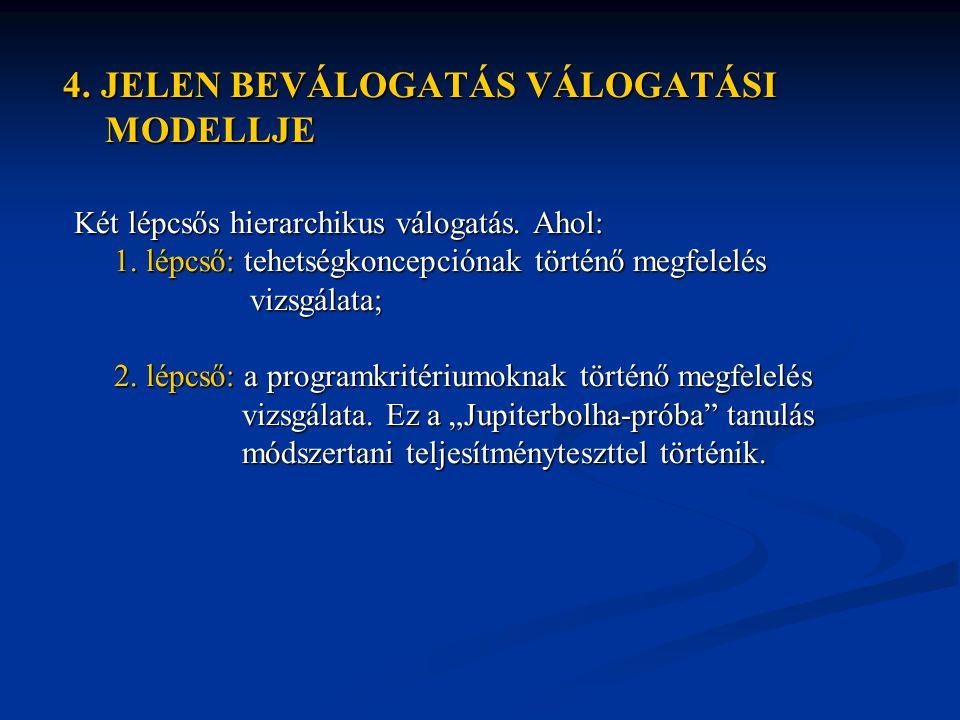 4. JELEN BEVÁLOGATÁS VÁLOGATÁSI 4. JELEN BEVÁLOGATÁS VÁLOGATÁSI MODELLJE MODELLJE Két lépcsős hierarchikus válogatás. Ahol: Két lépcsős hierarchikus v