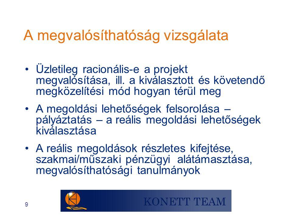 """40 Emberi erőforrás terv •Kompetencia szükséglet meghatározása (szakmai és menedzsment) •""""Ideális projektszervezet meghatározása a vázlatos szervezeti ábra figyelembe vételével (funkciók, feladatok és hierarchia) •A projekt team együttműködési normáinak, egyéni és csoportcéljainak tisztázása és egyeztetése; team építési/fejlesztési eszközök meghatározása; kompenzáció és motiváció eszközeinek tisztázása"""