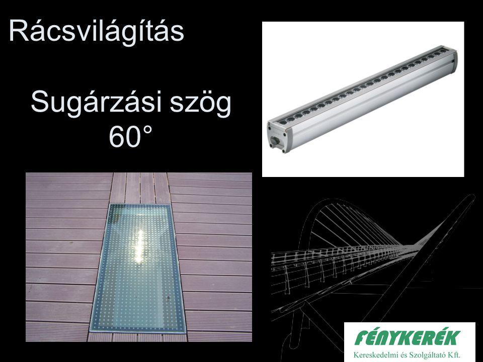 Rácsvilágítás Sugárzási szög 60°