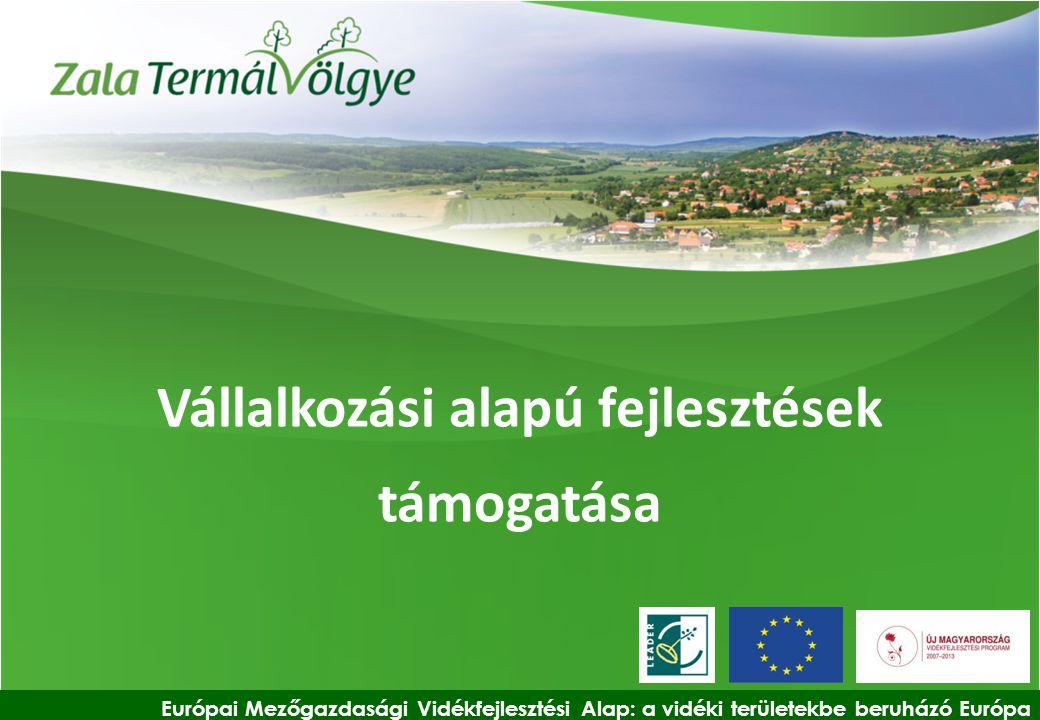 Vállalkozási alapú fejlesztések támogatása Európai Mezőgazdasági Vidékfejlesztési Alap: a vidéki területekbe beruházó Európa