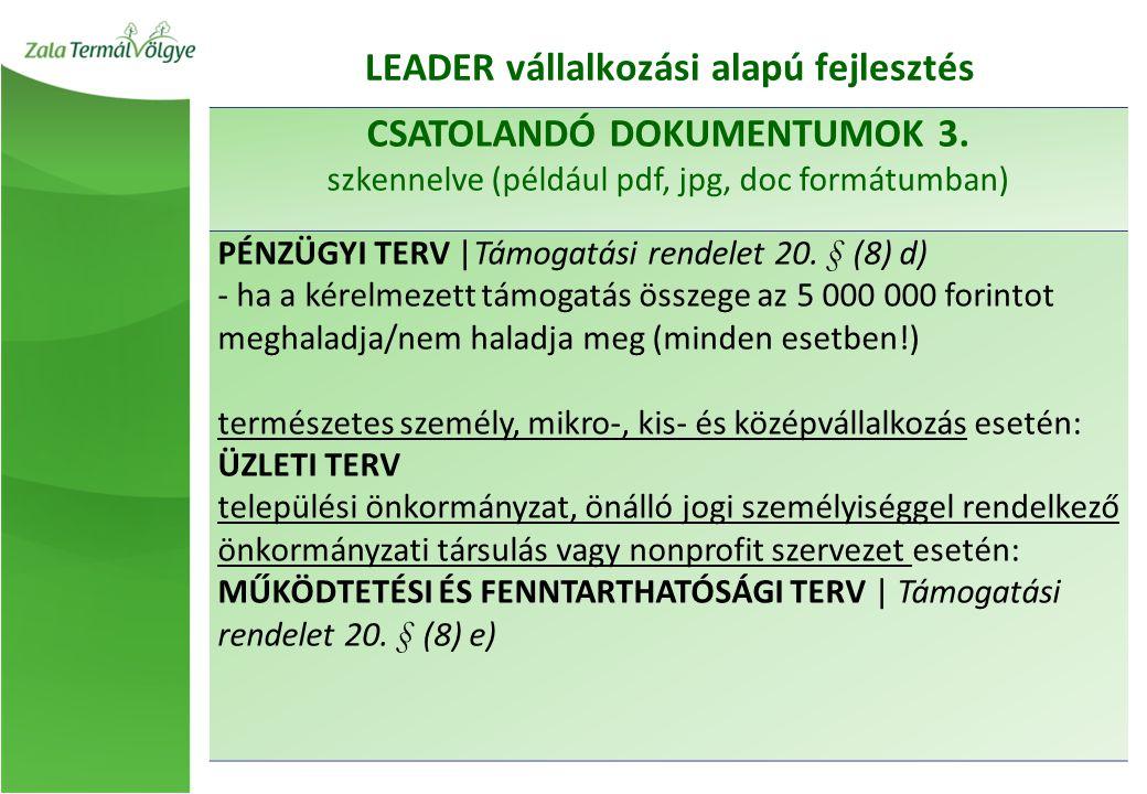 CSATOLANDÓ DOKUMENTUMOK 3.