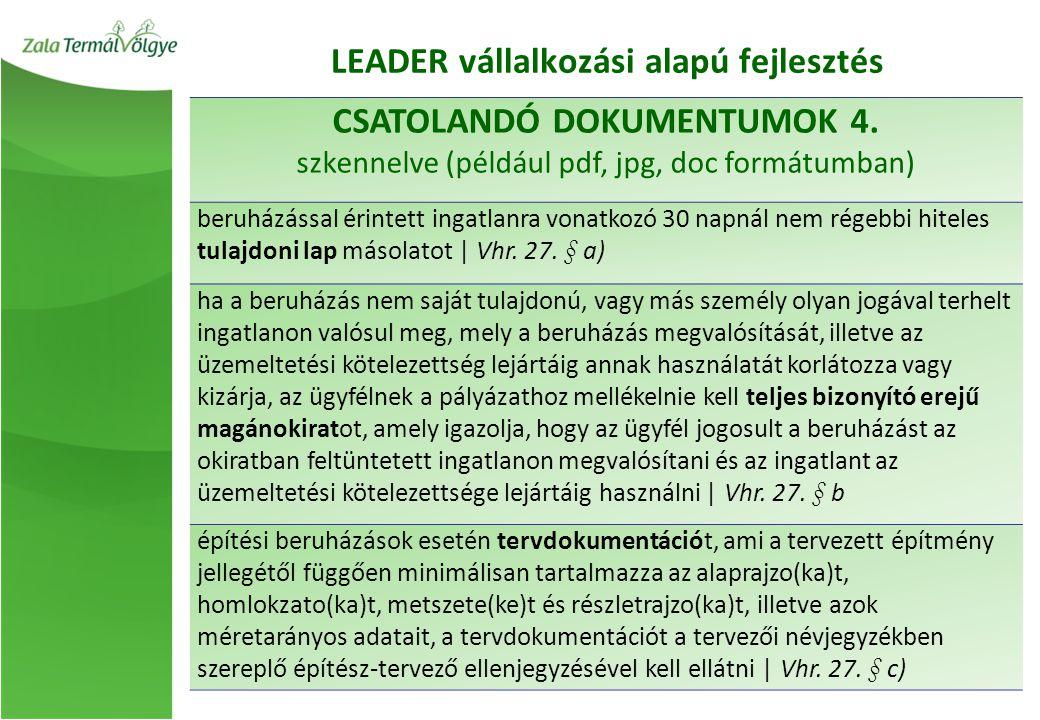 CSATOLANDÓ DOKUMENTUMOK 4.