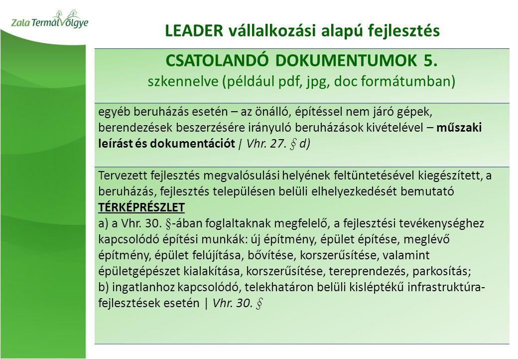 CSATOLANDÓ DOKUMENTUMOK 5.