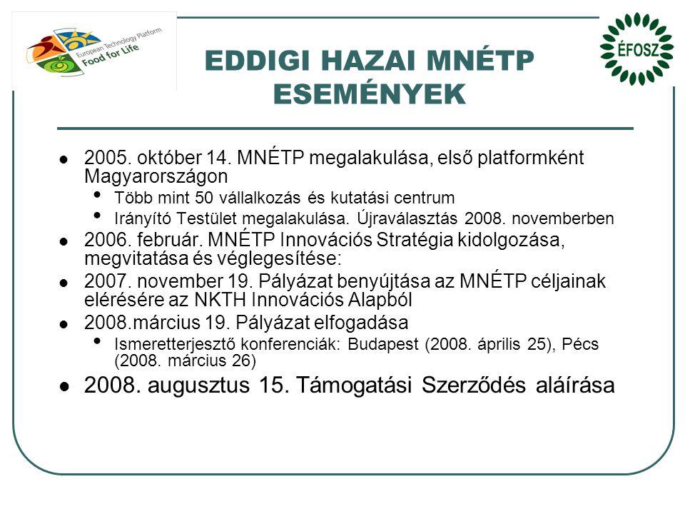EDDIGI HAZAI MNÉTP ESEMÉNYEK  2005.október 14.