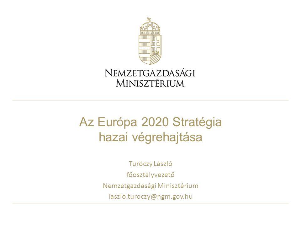 Az Európa 2020 Stratégia hazai végrehajtása Turóczy László főosztályvezető Nemzetgazdasági Minisztérium laszlo.turoczy@ngm.gov.hu