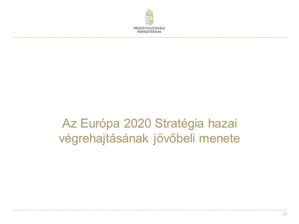 18 Az Európa 2020 Stratégia hazai végrehajtásának jövőbeli menete
