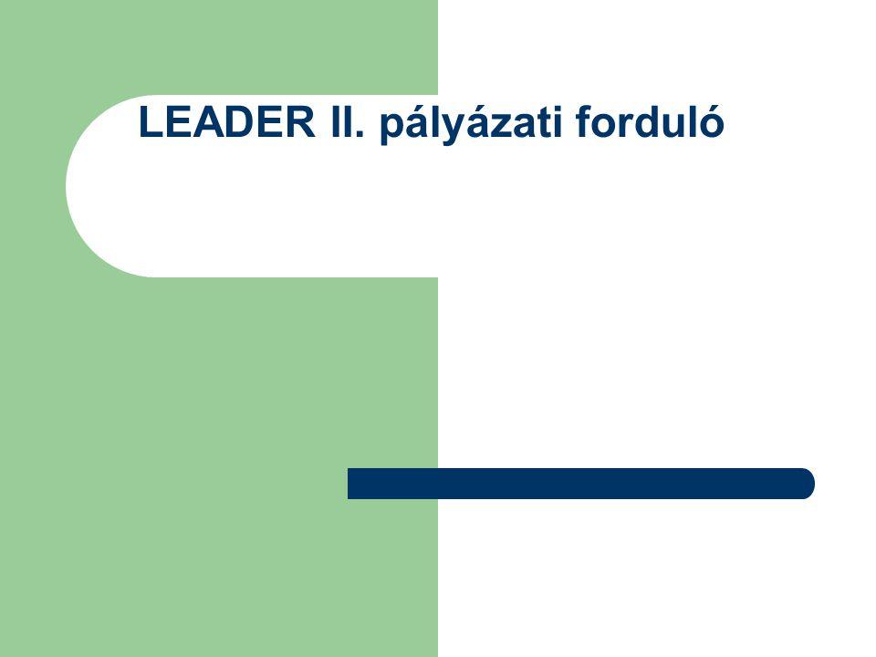 LEADER II. pályázati forduló