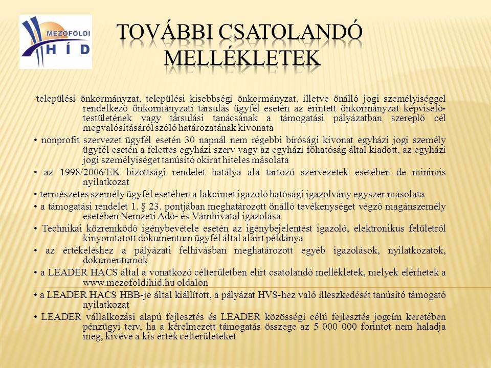 • települési önkormányzat, települési kisebbségi önkormányzat, illetve önálló jogi személyiséggel rendelkező önkormányzati társulás ügyfél esetén az é