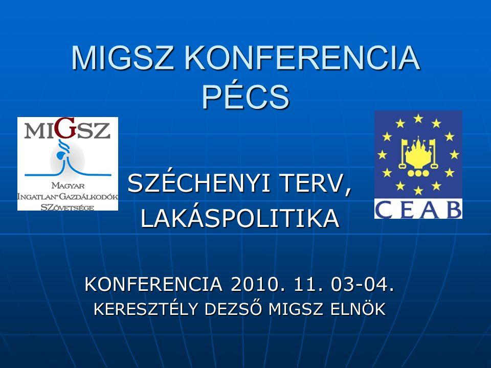 MIGSZ KONFERENCIA PÉCS  TALPRAÁLLÁS ÉS FELEMELKEDÉS  FEJLESZTÉSPOLITIKAI PROGRAMJA  2010.