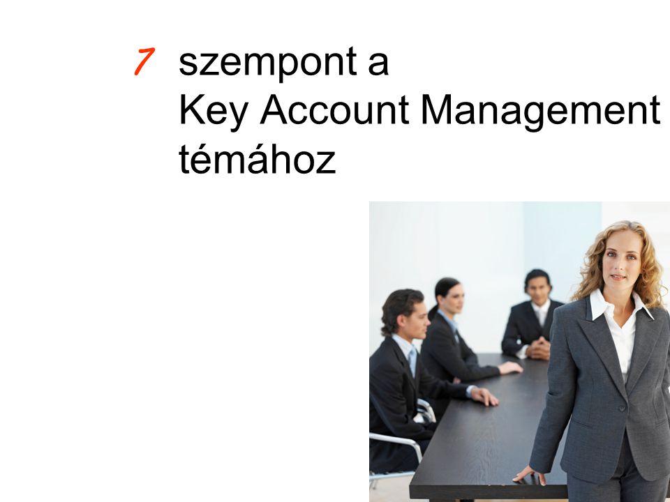 szempont a Key Account Management témához 7