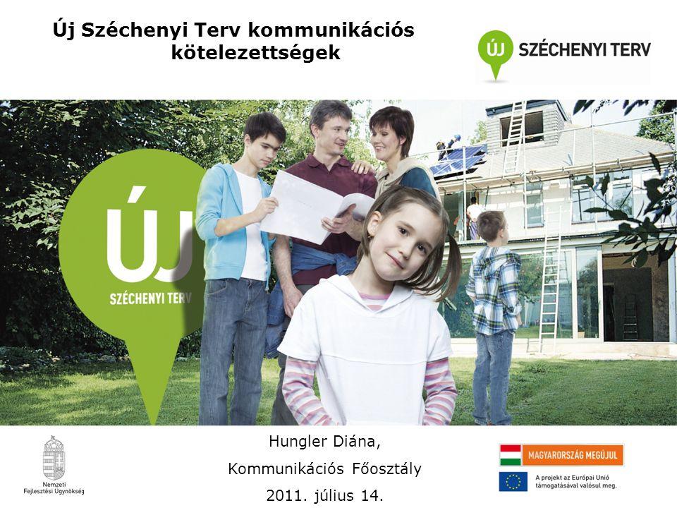 Új Széchenyi Terv kommunikációs kötelezettségek Hungler Diána, Kommunikációs Főosztály 2011. július 14.
