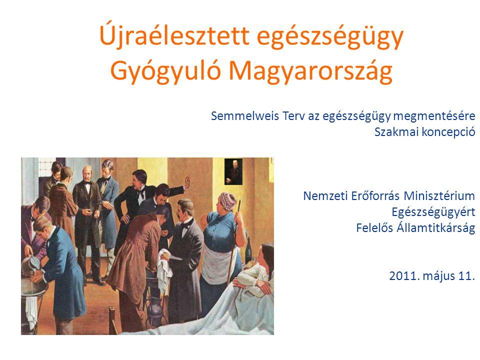 Újraélesztett egészségügy Gyógyuló Magyarország Semmelweis Terv az egészségügy megmentésére Szakmai koncepció Nemzeti Erőforrás Minisztérium Egészségü