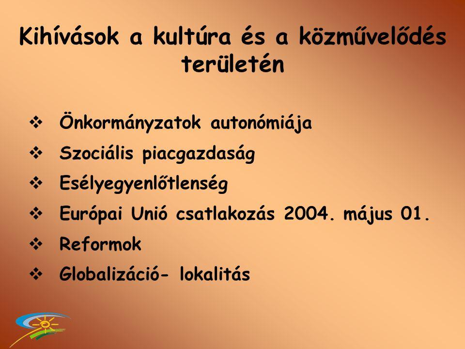 A kulturális vidékfejlesztés új lehetőségei Tisza Gabriella FVM-VKSZI Győr, 2007. szeptember 25.