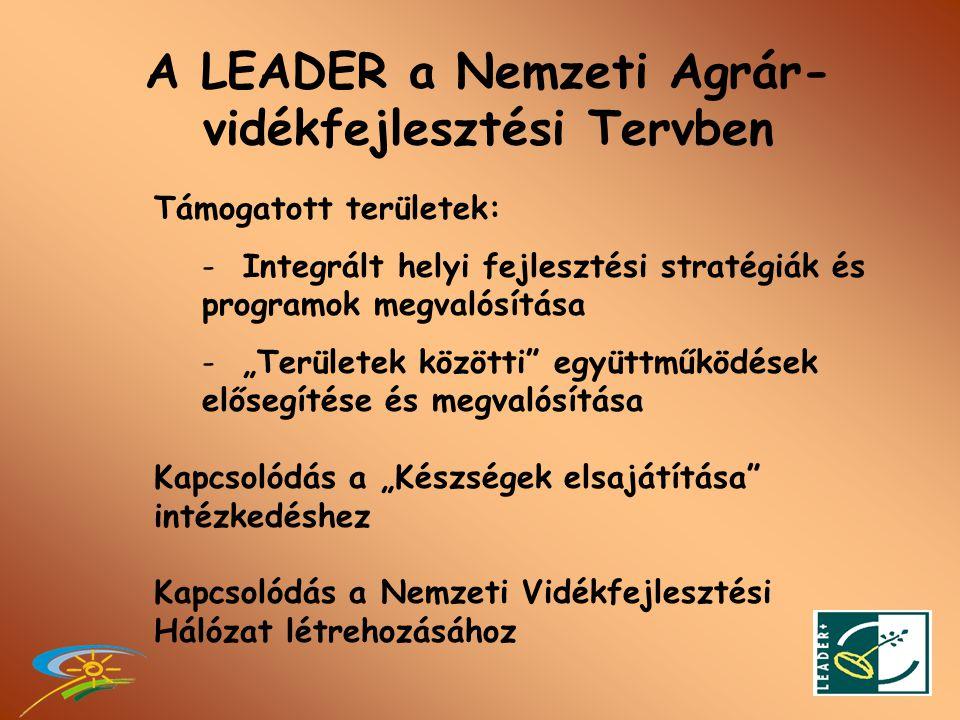 LEADER tengely az EMVA-n belül •AZ EMVA 4.